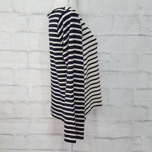 Madewell Tops - Madewell Raw Neckline Long Sleeve Striped Top